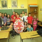 Ученици на часу руског језика - пано Васкрс